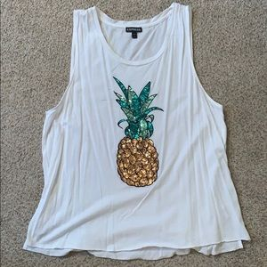 Express sequin pineapple tank